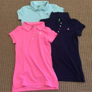 b1473a26 United Colors Of Benetton Shirts & Tops - Benetton girls polo shirts navy  pink and aqua